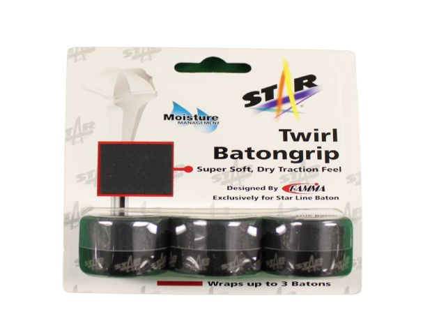 BATON TWIRLING SOFT TOUCH GRIP TAPE 3 PACK BLACK