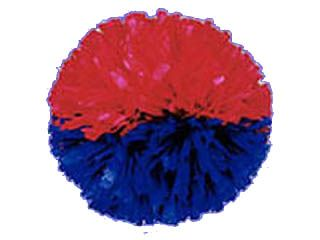 Two Color Side-By-Side Show Pom 4 Inch