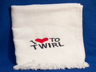 Twirl Towel ( White, Blue or Red )