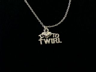 I Love To Twirl Necklace (Gold Or Silver)